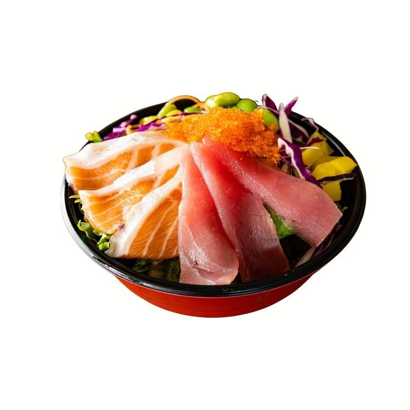 Salmon Tuna Poke Sushi