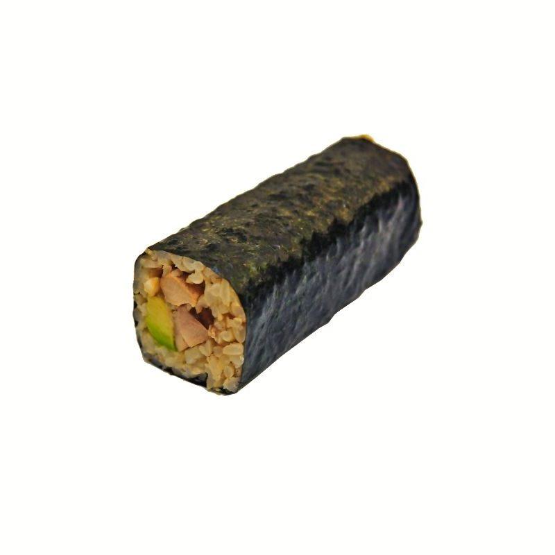 Brown Rice Teriyaki Chicken Avocado Handroll