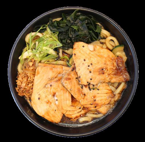 Teriyaki Salmon Udon